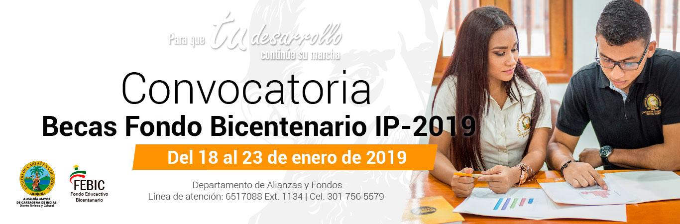Convocatoria Fondo Bicentenario IP2019
