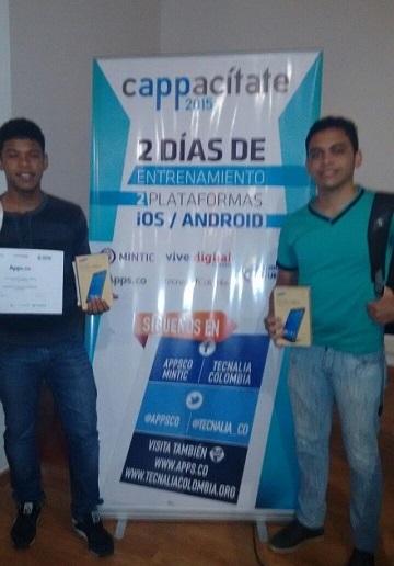 Estudiantes de Ingeniería de Sistemas de la Núñez ganan premio a mejor idea de negocio en Cappacítate 2015, Cartagena