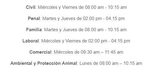 Horario consultorio Cartagena