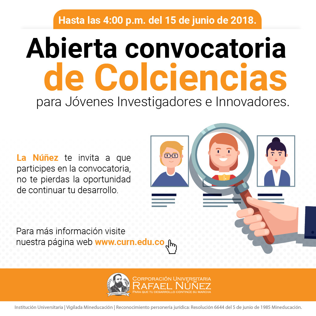 Abierta Convocatoria Colciencias Jóvenes Investigadores e Innovadores