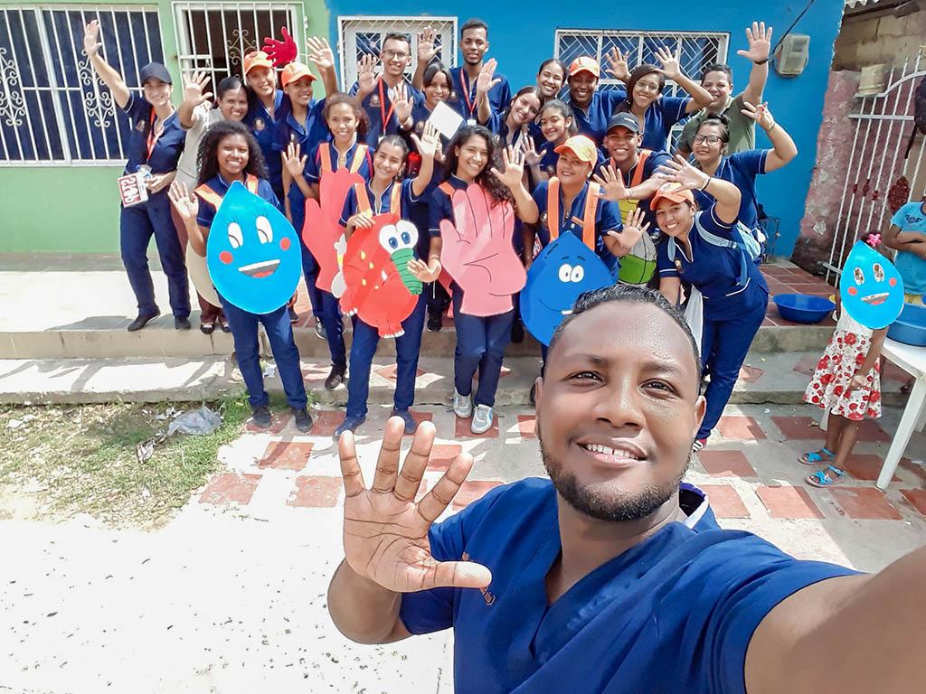 Promovemos junto a la comunidad de Olaya el correcto lavado de manos
