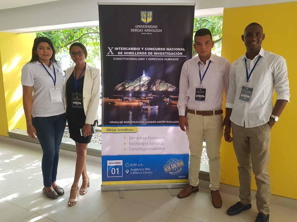Semillero de Derecho presenta ponencias en el X Intercambio y Concurso Nacional de Semilleros de Investigación