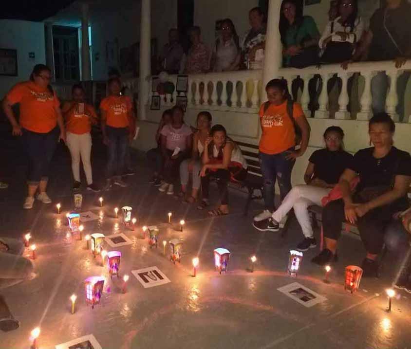 Luces y voces para la eliminación de la violencia contra las mujeres