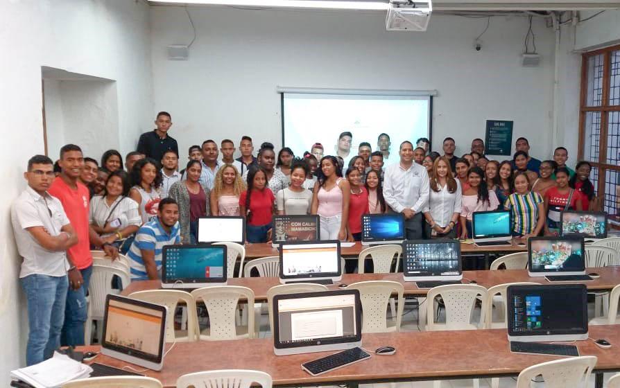 El programa de Derecho campus Cartagena recibió a sus estudiantes de primer semestre