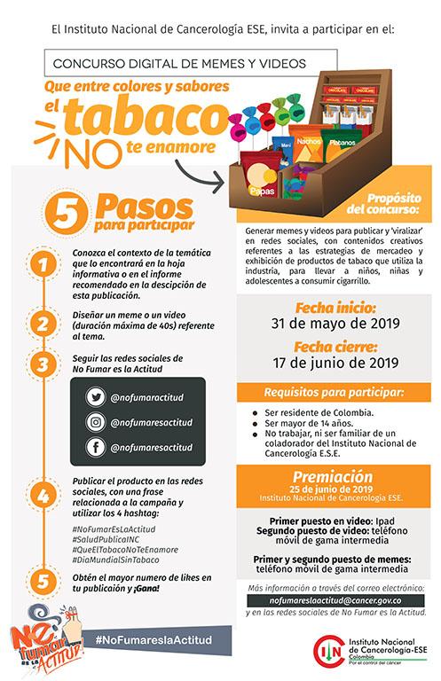 #NoFumarEsLaActitud ¡Participa en el concurso del INC y gana premios!