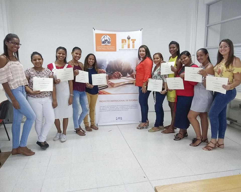 Reconocimiento aestudiantes tutoras del Programa de Licenciatura en Educación Infantil