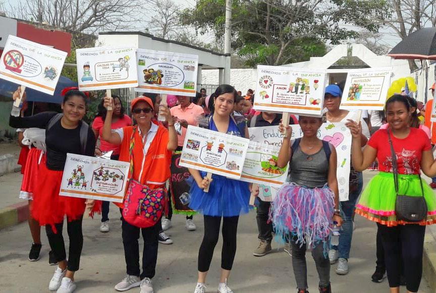 El programa de Licenciatura conmemora el Día de la Niñez junto a tres comunidades cartageneras
