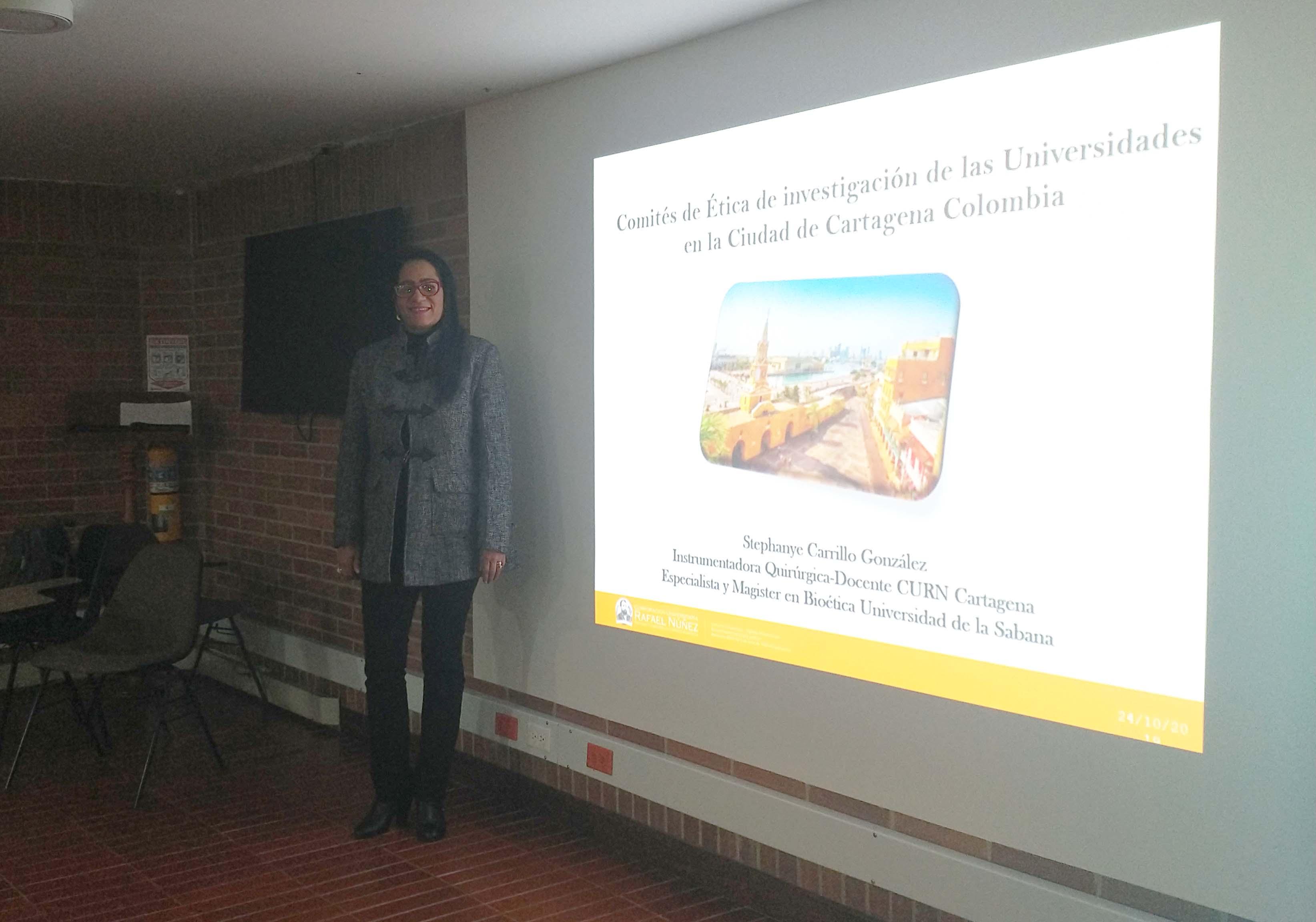 Ponencia en VII Diálogo de Ética de la Investigación por Docente de Instrumentación Quirúrgica