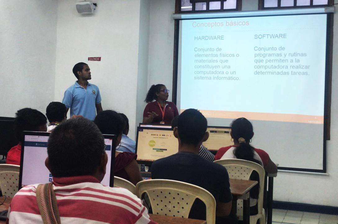 Alfabetización en TIC para indígenas de Membrillal desde proyección social de la Facultad de Ingeniería