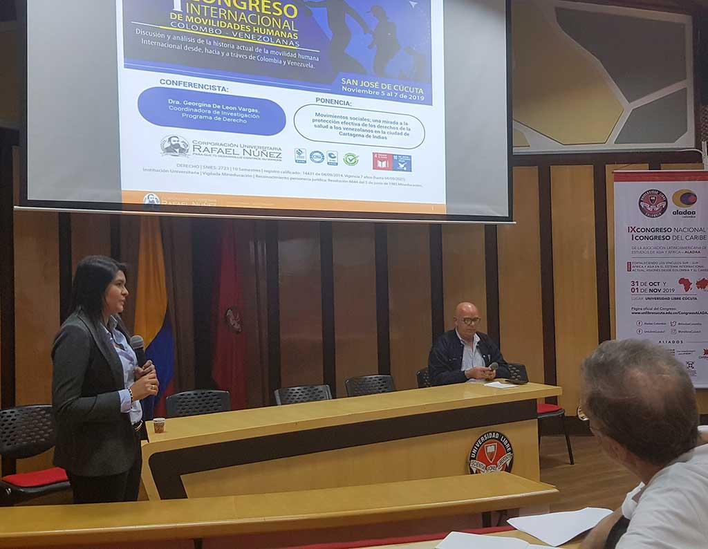 Programa de Derecho presenta investigación en el Primer Congreso Internacional de Movilidades Humanas