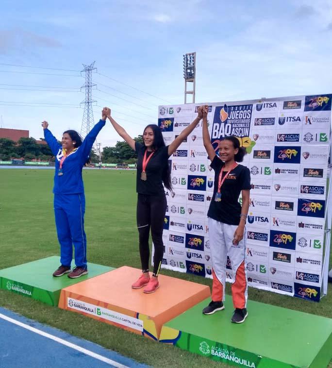 Estudiante nuñista ganadora juegos deportivos ASCUN