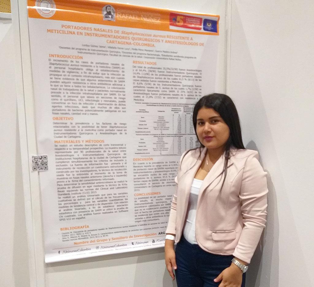 Ponencia de estudiante de Instrumentación en el V Encuentro Nacional de Semilleros de Ciencias de la Salud