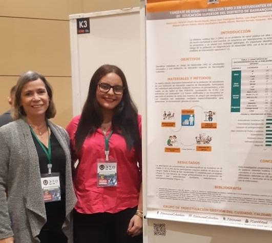 Ponencia de estudiante de Enfermería (Barranquilla) en Encuentro Nacional de Investigación en Salud