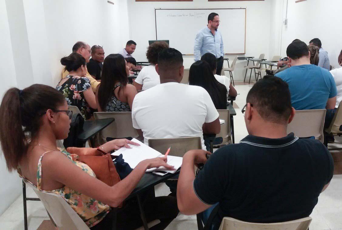 Continúan las jornadas de capacitaciones Pruebas Saber Pro para estudiantes de Derecho Campus Cartagena
