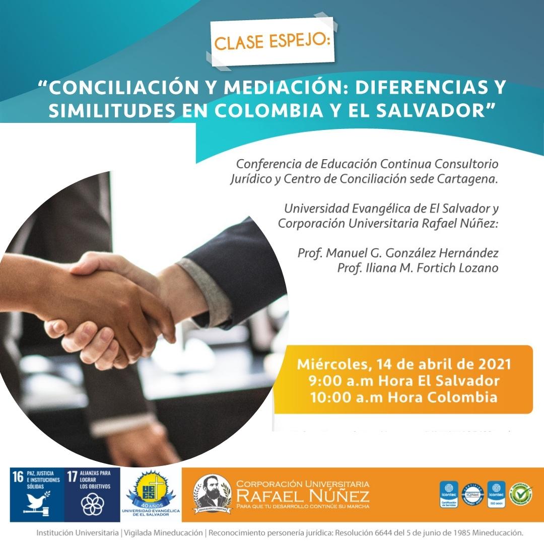 El programa de Derecho de la Uninúñez campus Cartagena desarrolla clase espejo con la Universidad Evangélica de El Salvador