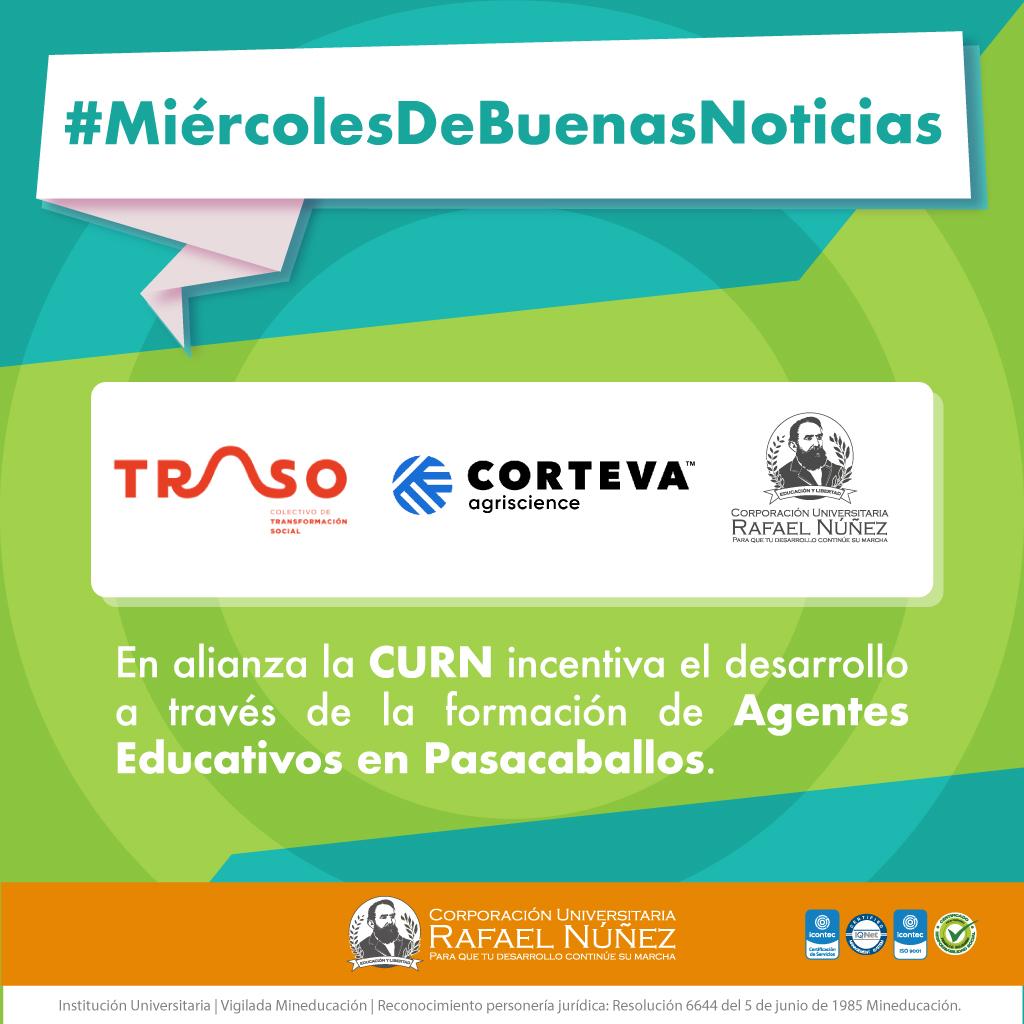 En alianza la CURN incentiva el desarrollo a través de la formación de agentes educativos en Pasacaballos.
