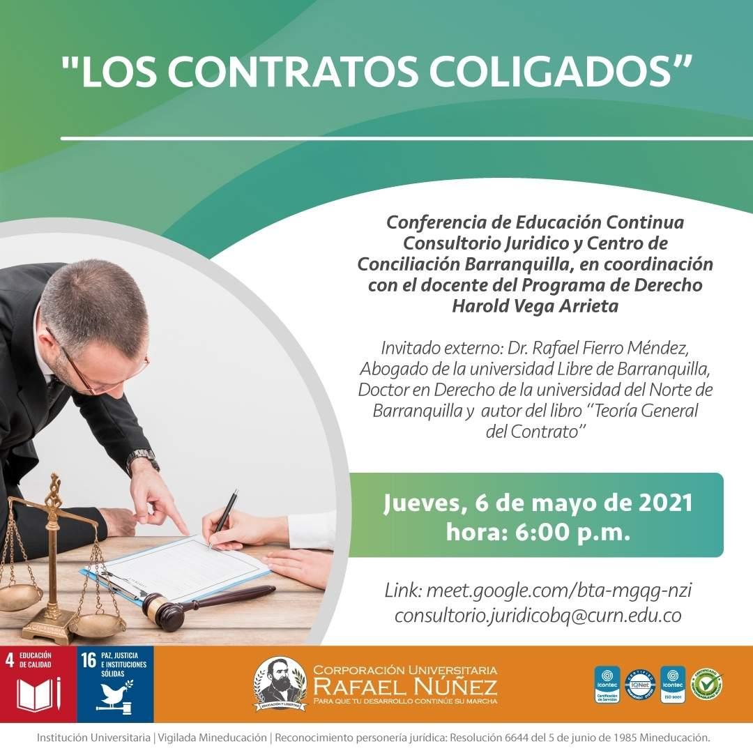 Conferencia Los contratos coligados se realiza exitosamente en Uninúñez Barranquilla.