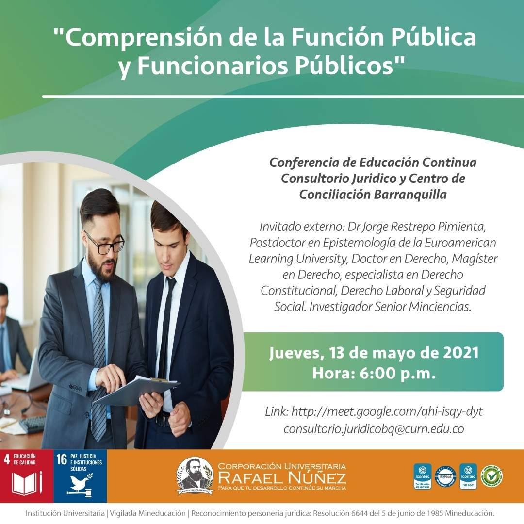 Exitosamente se realiza la conferencia Comprensión de la Función Pública y Funcionarios Públicos.