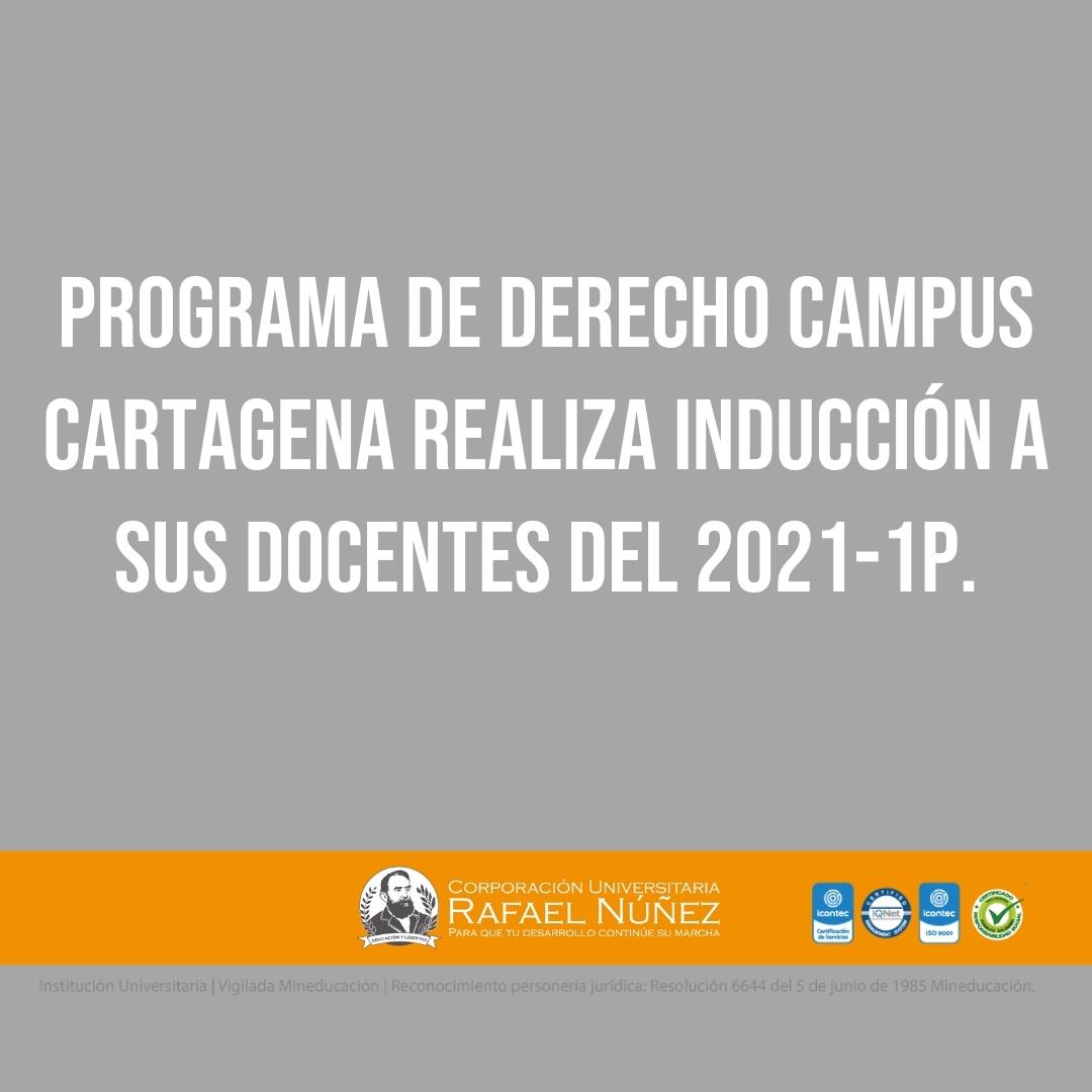 Programa de Derecho campus Cartagena realiza inducción a sus Docentes del 2021-1P.