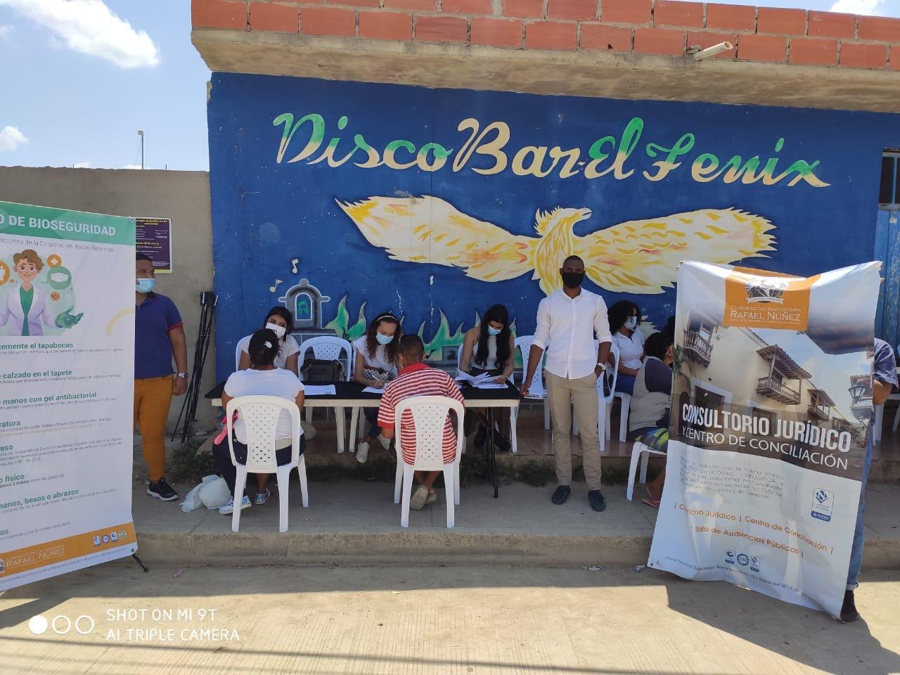 Uninúñez se vincula a jornada de orientación jurídica, social y educativo en barrio de Cartagena.