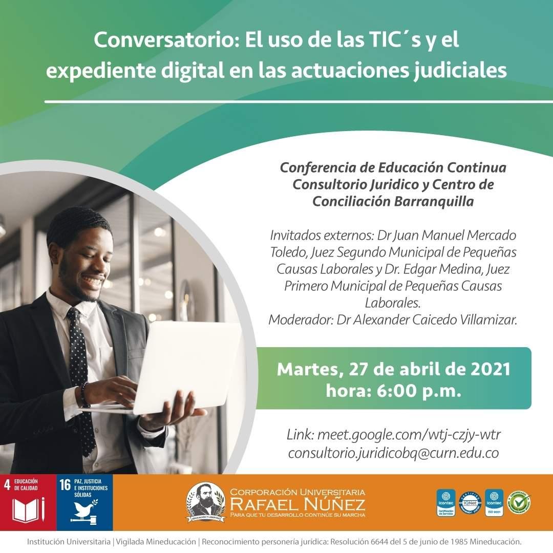 La CURN Barranquilla realiza exitosamente conferencia virtual con dos expertos en Derecho.