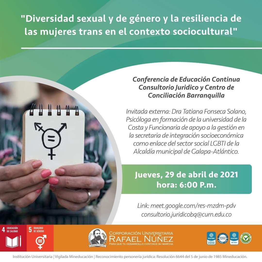 En Uninúñez Barranquilla se realiza conferencia basada en Diversidad Sexual y Género.