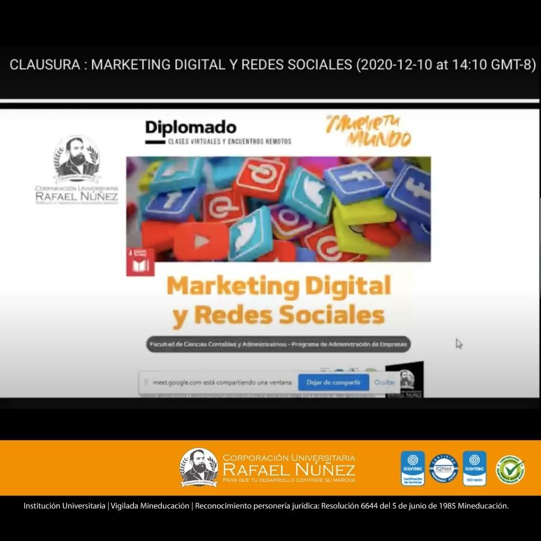 Se clausura la primera edición del diplomado de Marketing Digital y Redes Sociales de la Núñez.