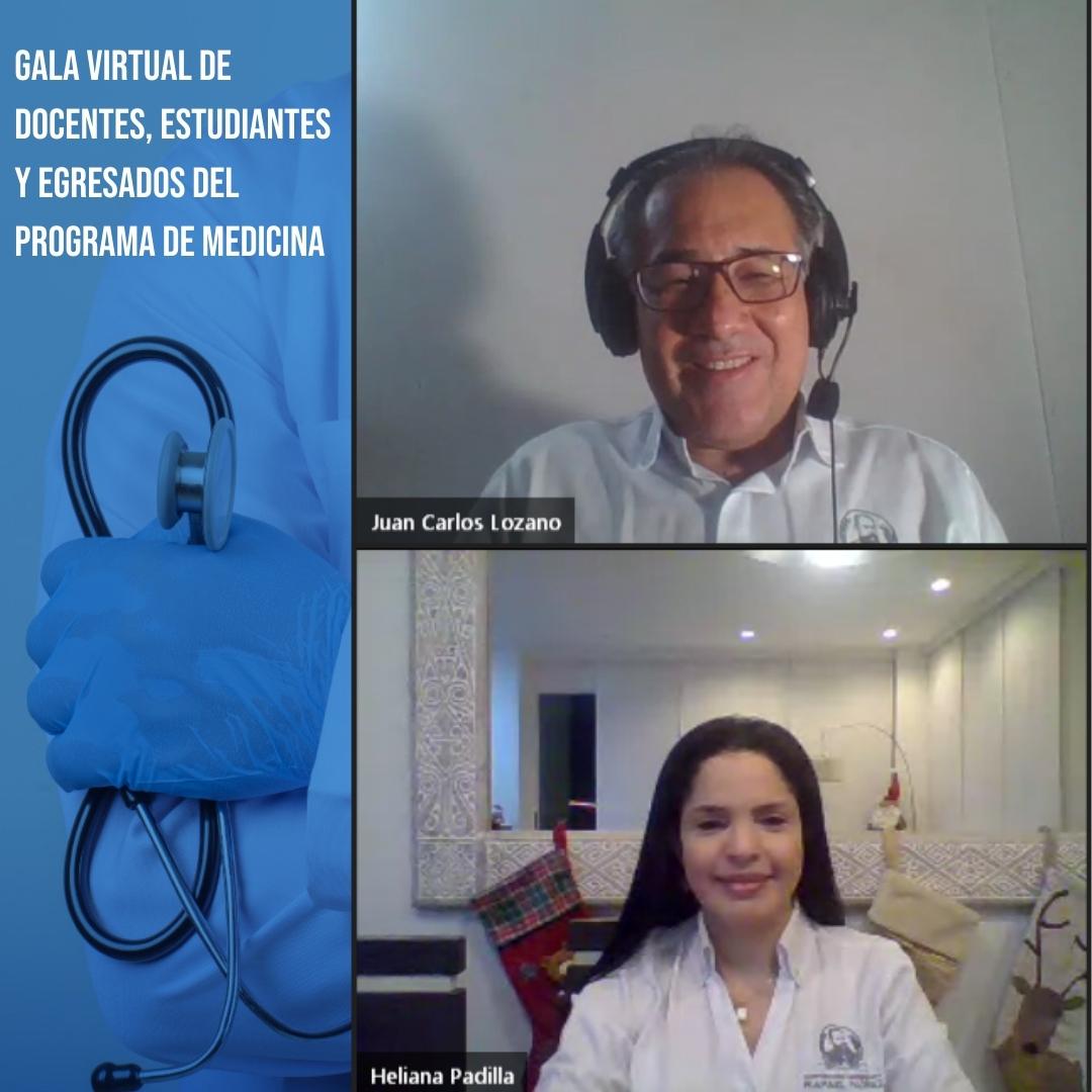 La CURN realiza Gala Virtual que reconoce el trabajo de médicos y estudiantes del programa de Medicina.