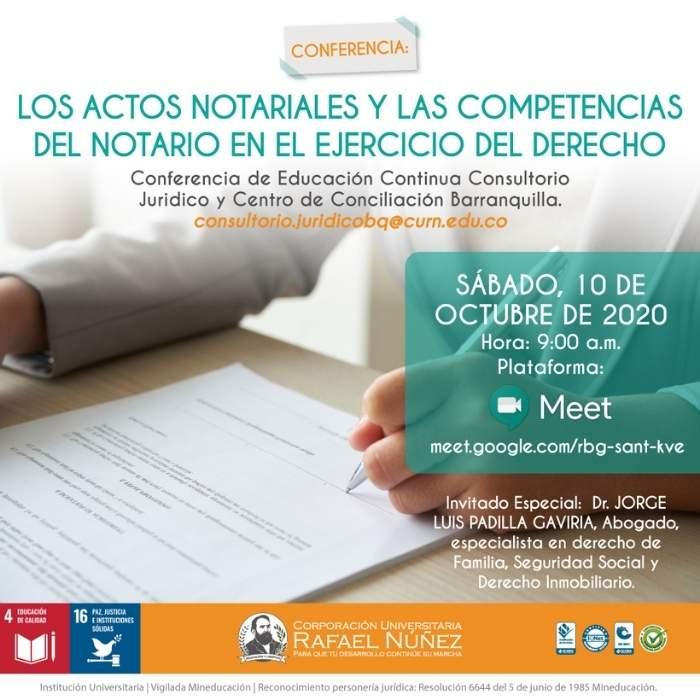 """En la Núñez se llevó a cabo la Conferencia: """"Los Actos Notariales y las Competencias del Notario en el ejercicio del Derecho"""