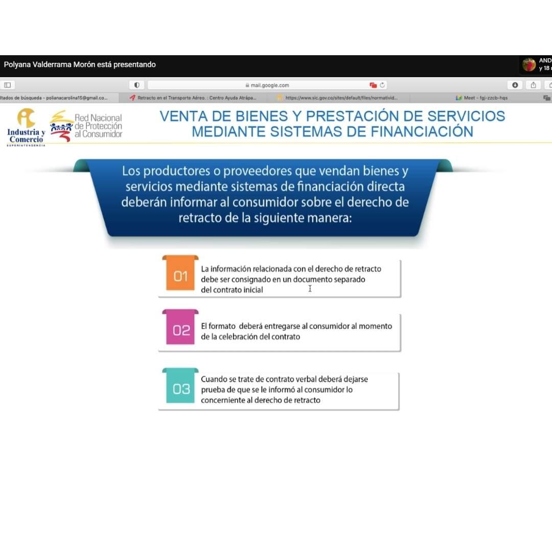 """Se realiza exitosamente en la Núñez sede Cartagena la conferencia virtual """"Derecho de retracto""""."""
