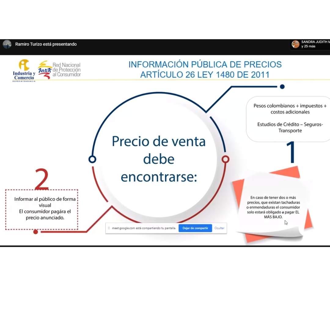 """Se realiza con éxito en la CURN la conferencia virtual """"Información y Publicidad Engañosa""""."""