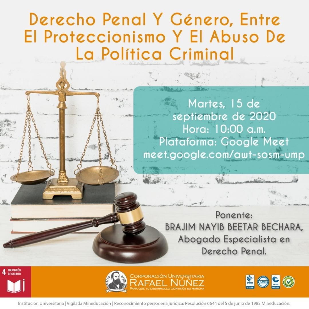 La Núñez realiza charla con experto en Derecho Penal y Género.