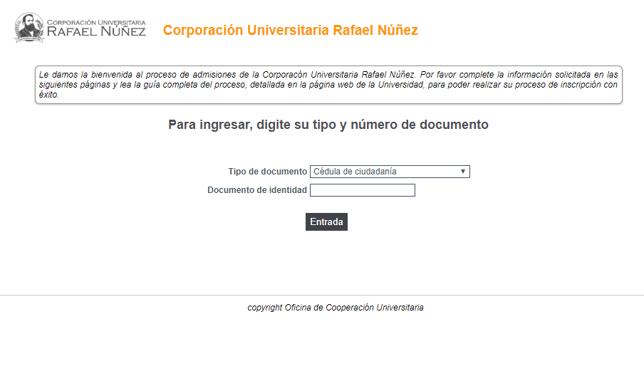 1. Ingresar al formulario de inscripción